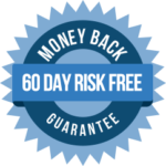 badge displaying Project GoPro's 60 day money back guarantee return plicy