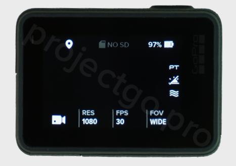 main GoPro settings menu