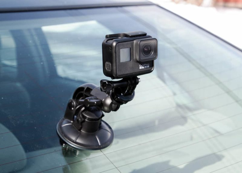 gopro suction mount car