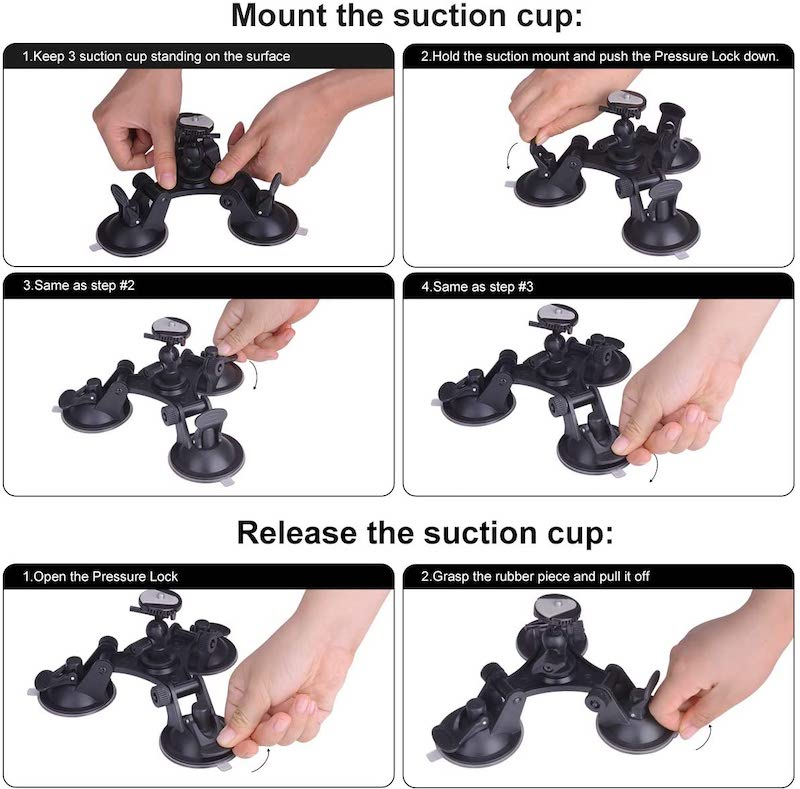 How to use GoPro Suction Cup on Car