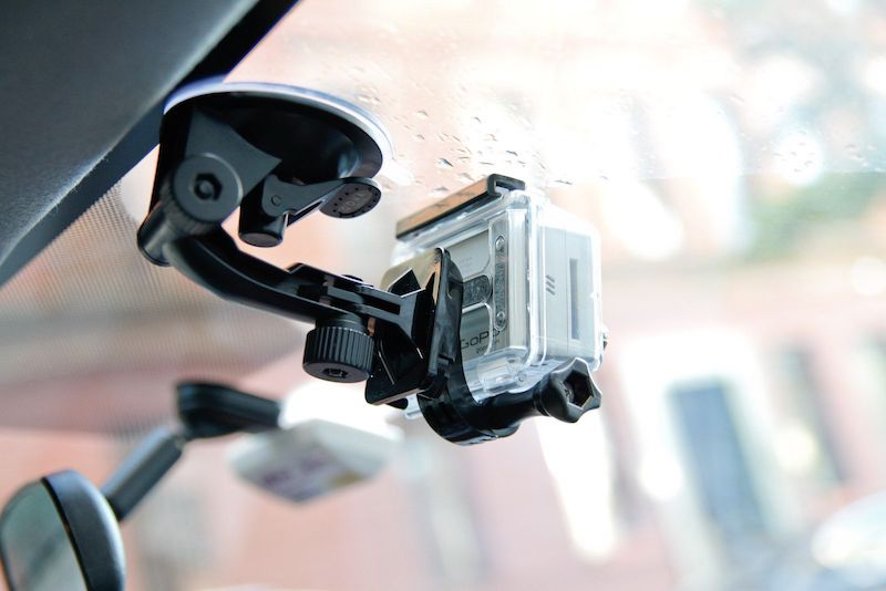 gopro windshield car mount
