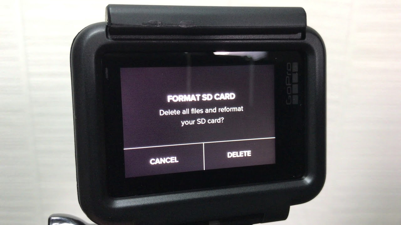 format gopro sd card