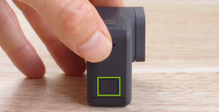 gopro turn off power button