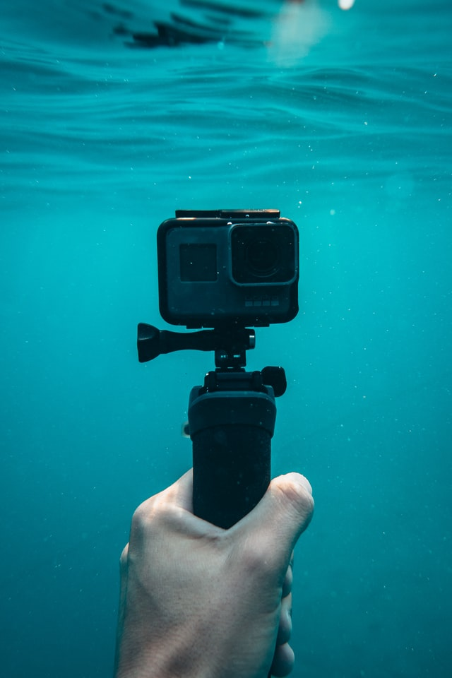 GoPro in mare
