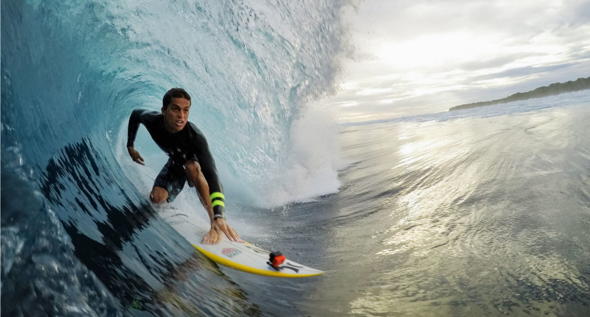 GoPro on Surfboard