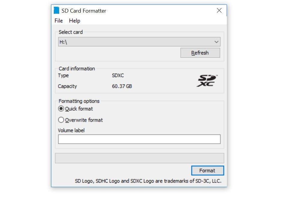 Formattatore di schede SD