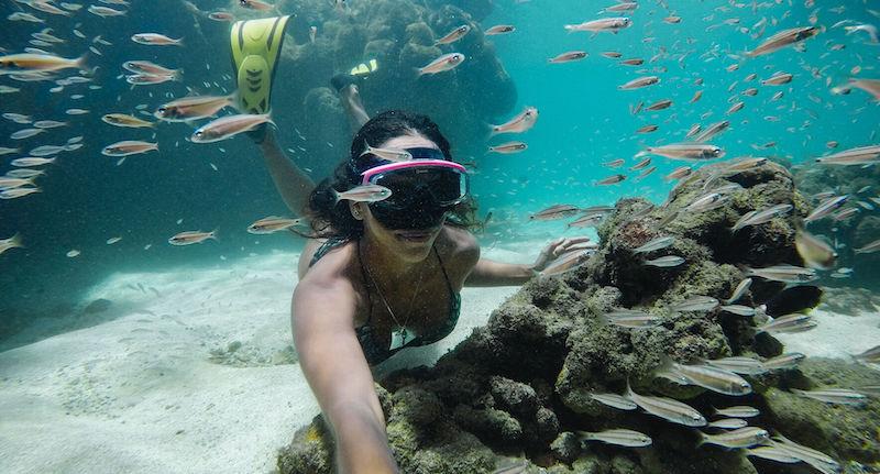 hero 9 underwater with fish