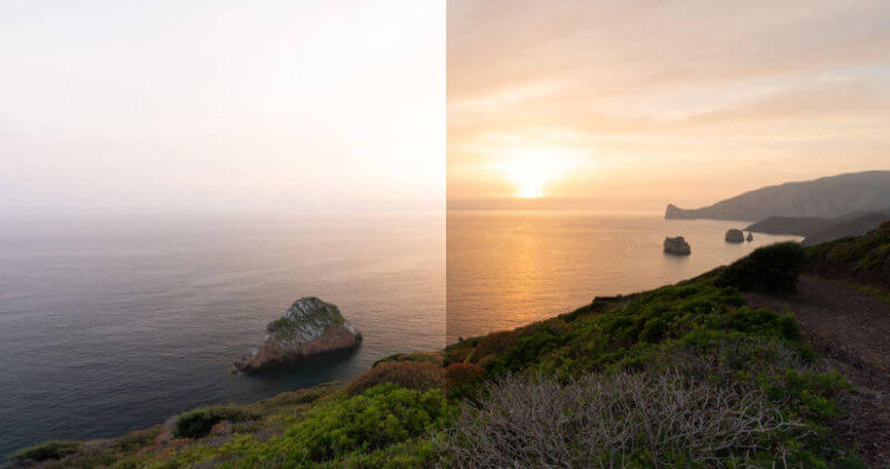 Before & After ND Filter